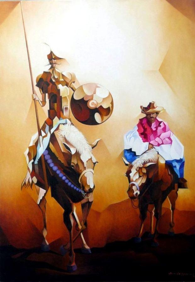 DOM QUIXOTE E SANCHO PANÇA -  DE DAMIÃO MARTRINS-
