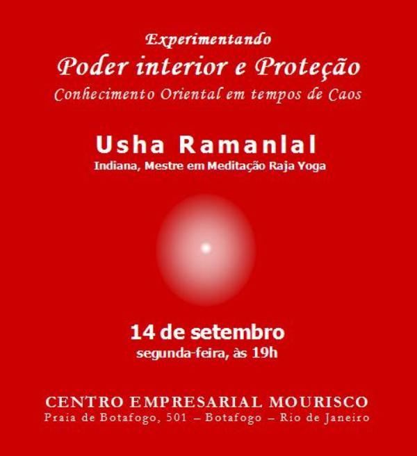 convite palestra Usha Ramanlal