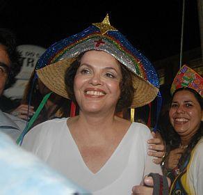 DILMA ROUSSEFF em Caruaru. foto livre.