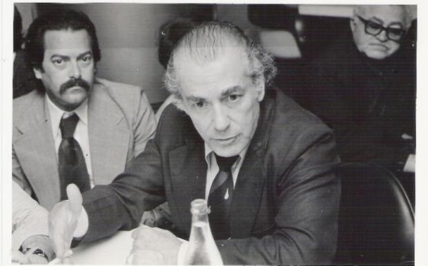 JB VIDAL e LEONEL BRIZOLA - entrevista para a imprensa em Curitiba. 03/1980.