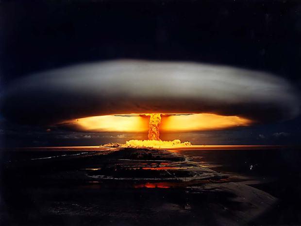 a explosão